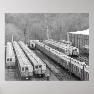 Septa Transit M-3 Market Frankford  Line Cars wide Poster