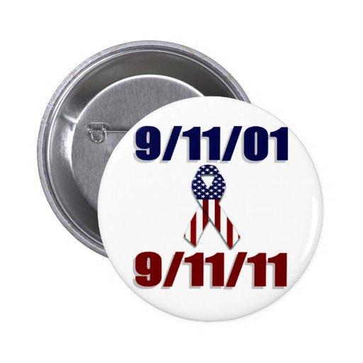 September 11, 2001 Ten Year Anniversary Pinback Buttons