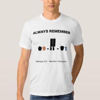 September 11 2001 Timeline Remembrance Shirt