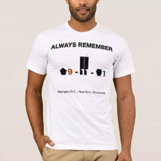 September 11 2001 Timeline Remembrance T-Shirt