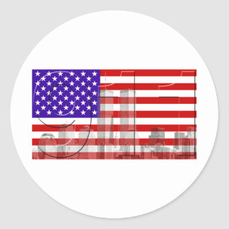 September 11 classic round sticker