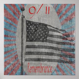 September 11 Remembrance Flag Print