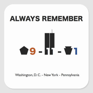 September 11 Remembrance Sticker (square)