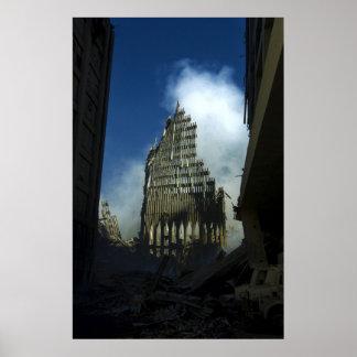 September 11th 2001 World Trade Center Remains Poster