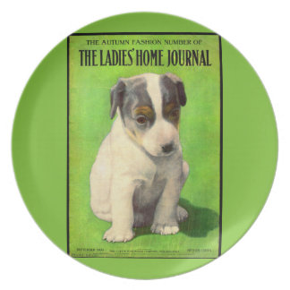 September 1906 Ladies Home Journal cover puppy Dinner Plate