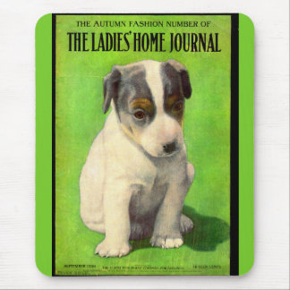 September 1906 Ladies Home Journal cover puppy Mouse Pad