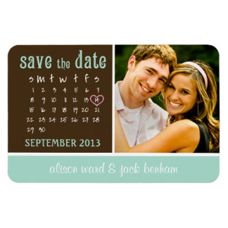 "SEPTEMBER 2013 Calendar ""Save the Date"" Rectangular Photo Magnet"