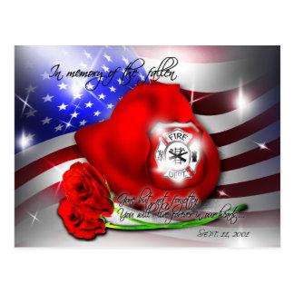 September 9/11 memorial Postcard