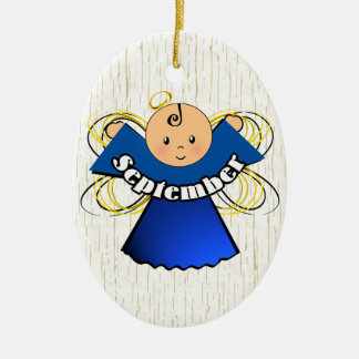 September Birthday Angel Ceramic Ornament