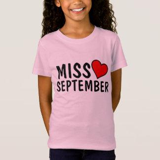 SEPTEMBER BIRTHDAY GIRL T-shirts, MISS SEPTEMBER T-Shirt