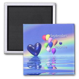 September Birthday Sapphire Heart Magnet