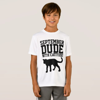 SEPTEMBER BIRTHDAY T-shirts  for guys, Cat