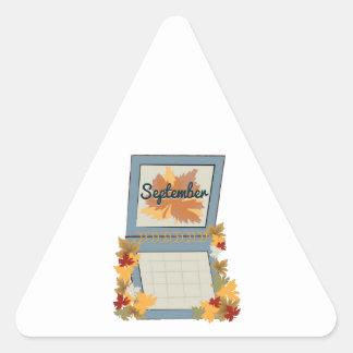 September Calendar Triangle Stickers