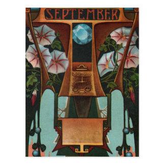 September - Libra Postcard