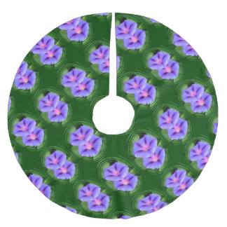September Morning Glories Brushed Polyester Tree Skirt