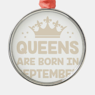 September Queen Metal Ornament
