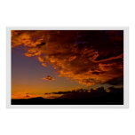 September Sunset over Mt Rose Poster