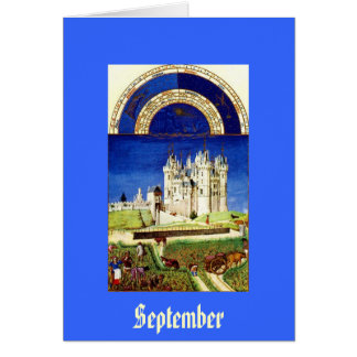 September - Tres Riches Heures du Duc de Berry Card