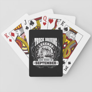 September Truck Driving Legends Playing Cards