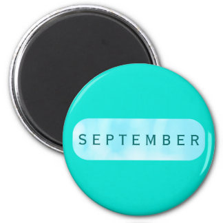 September Turquoise Round Magnet by Janz