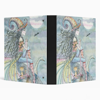 September Wind Witch Cat Goose Art Vinyl Binders