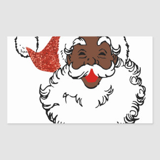 sequin African santa claus Sticker