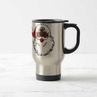 sequin African santa claus Travel Mug