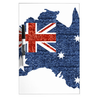 sequin australian flag dry erase boards