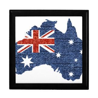 sequin australian flag keepsake box