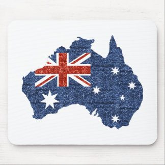 sequin australian flag mouse pad
