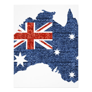 sequin australian flag personalized letterhead