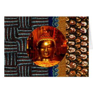 Sequin Buddha Birthday Card
