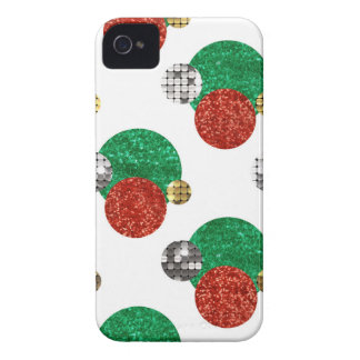 sequin christmas dots iPhone 4 case