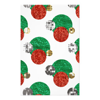 sequin christmas dots stationery