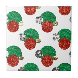 sequin christmas dots tile