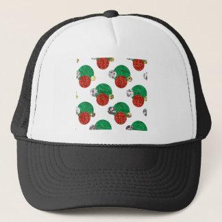sequin christmas dots trucker hat