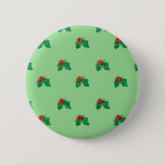 sequin christmas Holly 2 Inch Round Button