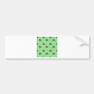 sequin christmas Holly Bumper Sticker