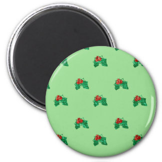 sequin christmas Holly Magnet
