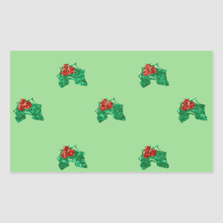 sequin christmas Holly Sticker