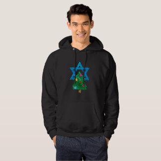 sequin christmukkah hanukkah mens hoody sweatshirt