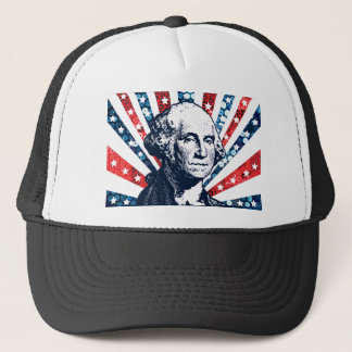 sequin george washington trucker hat