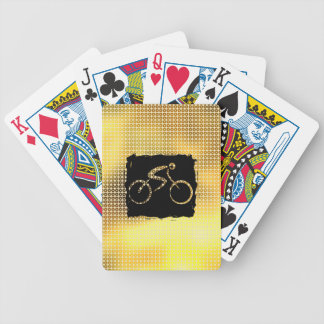 Sequin Gold Bicycle Bicycle Playing Cards