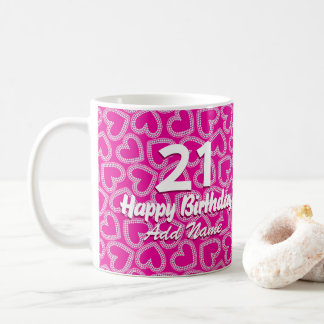 Sequin hearts coffee mug