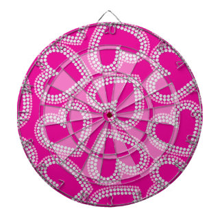 Sequin hearts dartboard