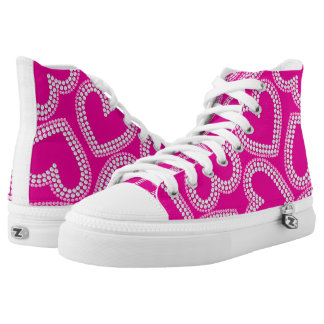Sequin hearts high tops
