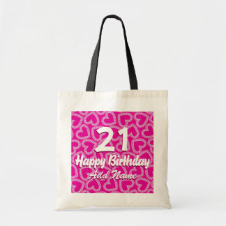 Sequin hearts tote bag