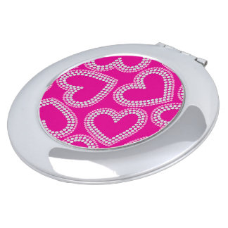 Sequin hearts vanity mirrors