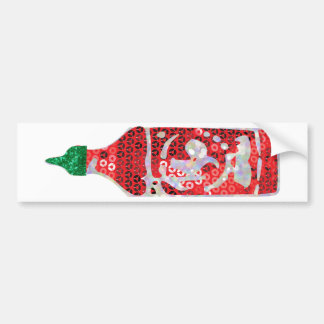 sequin hot sauce bumper sticker