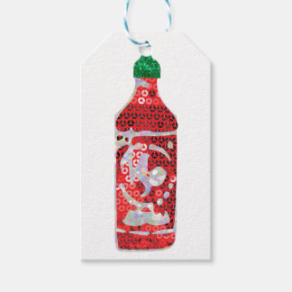 sequin hot sauce gift tags